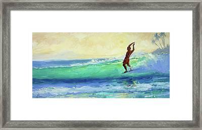 Smooth Glide Framed Print by Jenifer Prince