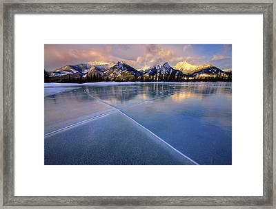 Smooth Ice Framed Print