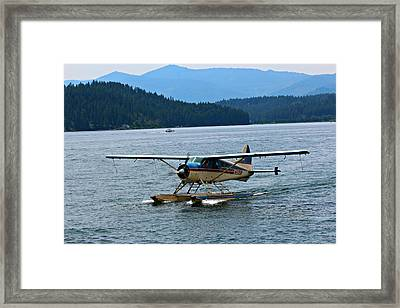 Smooth Landing On Lake Coeur D'alene Framed Print