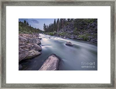 Smooth Rapids Of Deschutes River Framed Print by Twenty Two North Photography