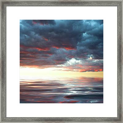 Smooth Sailing Framed Print by Jerry McElroy