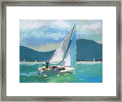 Smooth Sailing Framed Print by Robert Bissett