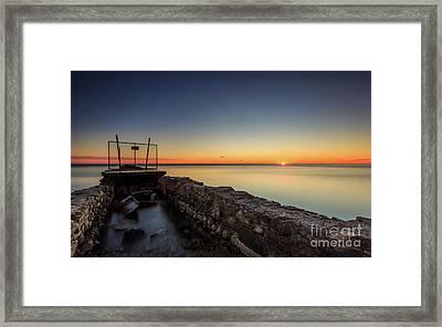 Smooth Sunrise Sparkle Framed Print by Andrew Slater