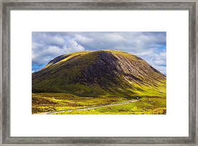 Framed Print featuring the photograph Smooth-top Mountain by Steven Ainsworth