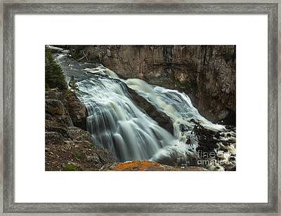 Smooth Water Of Gibbon Falls Framed Print by Robert Bales