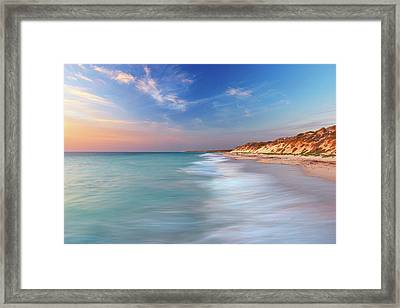 Smooth Waters, Quinns Rocks, Perth Framed Print