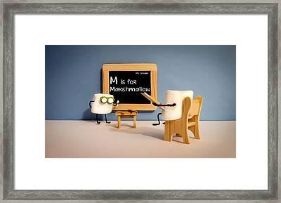 Smore School Framed Print by Heather Applegate