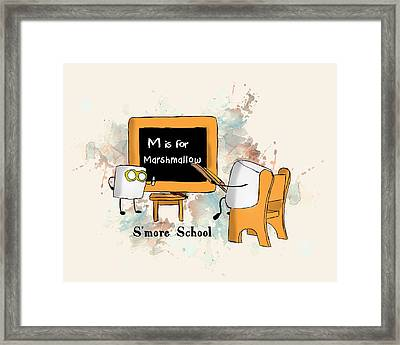 Smore School Illustrated Framed Print by Heather Applegate