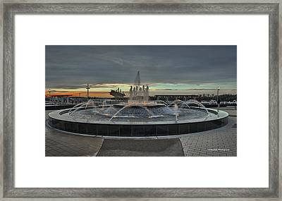 Smothers Park Fountain Framed Print by Wendell Thompson
