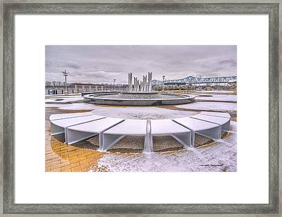 Smothers Park In Owensboro Kentucky Framed Print by Wendell Thompson