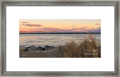 Framed Print featuring the photograph Smugglers Beach Sunset II by Michelle Wiarda