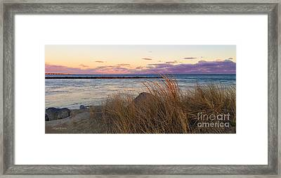 Framed Print featuring the photograph Smugglers Beach Sunset by Michelle Wiarda