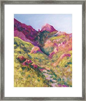 Smuggler's Gap Canyon Framed Print by Candy Mayer