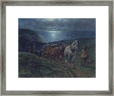 Smugglers Framed Print by William Barnes Wollen