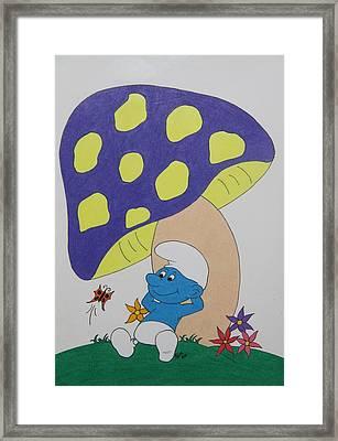 Smurf Framed Print by Patricia Alexander
