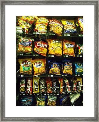 Snack Attack Framed Print by Anna Villarreal Garbis