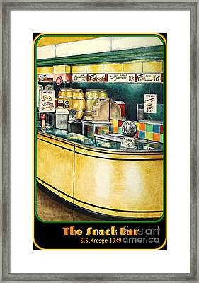 Snack Bar Framed Print by David Neace
