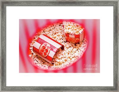 Snack Bar Pop Corn Framed Print