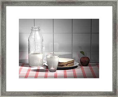 Snack Computer Rendered Still Life Framed Print