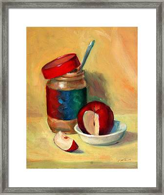 Snack Time Framed Print by Athena Mantle