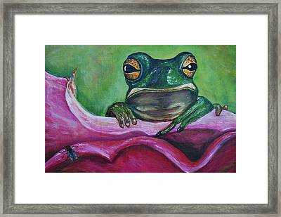Framed Print featuring the painting Snack Time by Debbie Baker