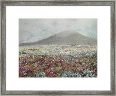 Snaefell Heather Framed Print