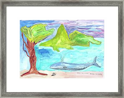 Snail And Whale Framed Print
