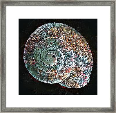 Snail Framed Print by Roger Smith