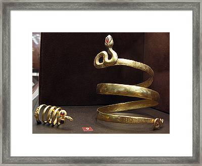 Snake Bracelet And Ring Framed Print by Andonis Katanos
