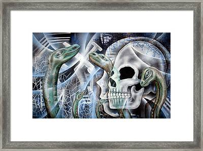 Snake Creation Framed Print