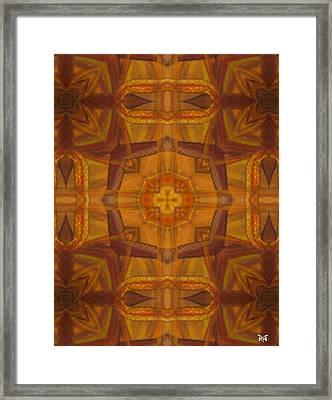 Snake Cross Framed Print by Maria Watt