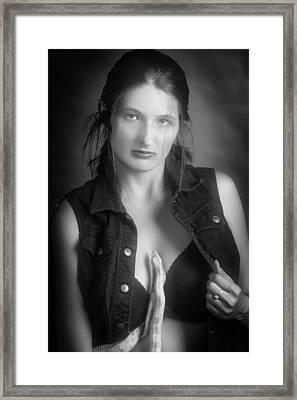 Snake Lady Or Girl With Live Snake Photograph 5262.01 Framed Print