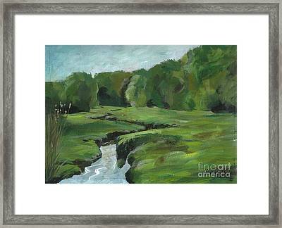 Snake Like Creek 2 Maine Framed Print by Claire Gagnon