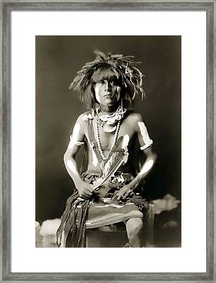Snake Priest  - Hopi Tribe C. 1900 Framed Print