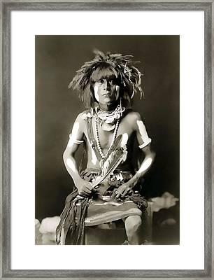 Snake Priest  - Hopi Tribe C. 1900 Framed Print by Daniel Hagerman
