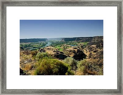 Snake River Canyon Framed Print by Brendon Bradley