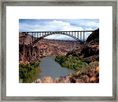 Snake River Canyon Framed Print by Ron Chambers