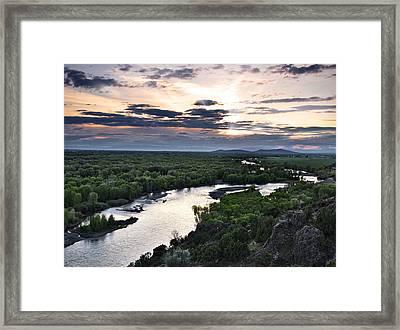 Snake River Framed Print by Leland D Howard