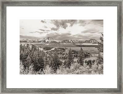 Snake River Overlook Grand Teton Framed Print