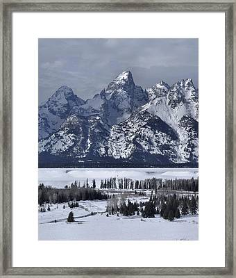 Snake River Overlook In Winter Framed Print by Stephen  Vecchiotti