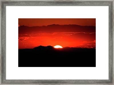 Snake River Plain Sunset Framed Print by Greg Norrell