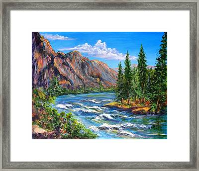 Snake River Framed Print by Thomas Restifo