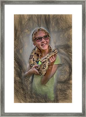 Snake Wrap Framed Print by John Haldane