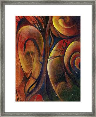 Framed Print featuring the painting Snakes And Snails by Andrew King