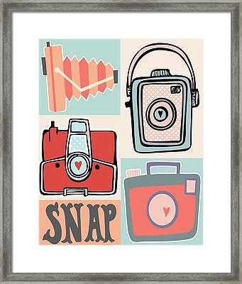 Snap - Vintage Cameras Framed Print