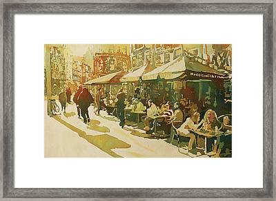 Snapshot Cafe Framed Print by Jenny Armitage