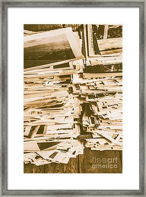 Snapshots From Times Worn Framed Print