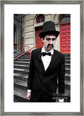 Snarling Top Hat Man Framed Print by Jorgo Photography - Wall Art Gallery
