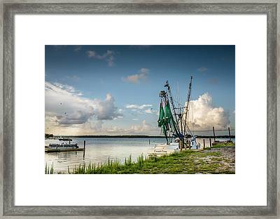 Snead's At Sunset Framed Print by Cynthia Wolfe