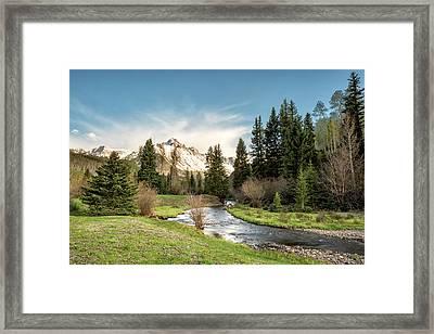 Sneffels And Spring Stream Framed Print